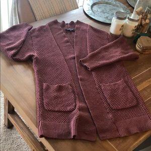 Express mauve pink knit sweater cardigan sz XS